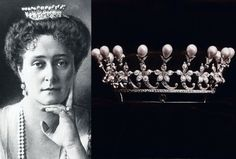 Boucheron - Les perles de la Tsarine Alexandra - Une petite Couronne en Perles et Diamants présentée par Frédéric Boucheron au château de Windsor est le choix de Nicolas II pour ses fiançailles avec celle qu'il aime depuis cinq ans, la princesse Alix de Hesse-Darmstadt, future tsarine Alexandra
