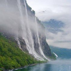 The #SevenSistersWaterfall, #Geiranger #Norway #travel #traveleze #traveling #holiday #holidays