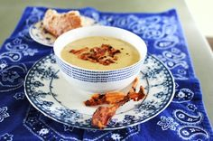 lazy roasted garlic potato soup