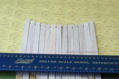 Make Dollhouse or Miniature Fence Pickets from Wooden Stir Sticks: Make Miniature Fence Pickets In Dolls House Scales