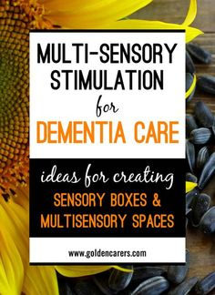 The sensory functions of elders decline as they grow older and this can impact on their feelings of well-being. Multi-sensory stimulation is becoming increasing Activities For Dementia Patients, Alzheimers Activities, Elderly Activities, Senior Activities, Dementia Care, Alzheimer's And Dementia, Therapy Activities, Physical Activities, Outdoor Activities