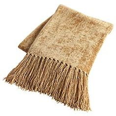 Solid Chenille Throw Gold For Couch Can T Decide Between A Brown Or Multicolor Red
