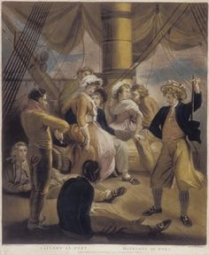 Sailors in Port, 1798. William Ward, Engraver of coloured mezzotint. Thomas Stothard, artist.