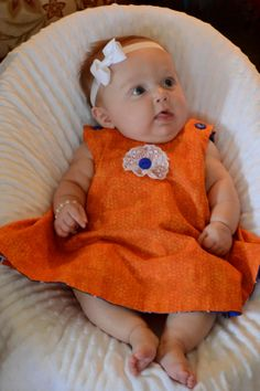 UF Gator dress with bloomers handmade by Nanny's Creation 4U on etsy.com