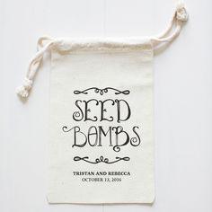 The Wedding Chicks Shop  - Seed Bombs Favor Bag, $6.00 (http://shop.weddingchicks.com/seed-bombs-favor-bag/)