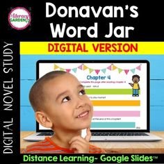 Donavan's Word Jar DIGITAL NOVEL STUDY is perfect for distance learning. Assign slides through Google Classroom.* Comprehension questions for each chapter* VOCABULARY