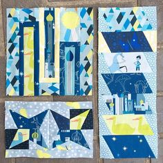 Patchwork City quilt blocks from @skyberries