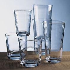 Set of 12 Rings Cooler Glasses in Glassware & Barware | Crate&Barrel