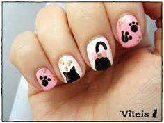PARA LA QUE LE GUSTAN LOS ANIMALES Nail Art For Kids, Conservative Fashion, Cat Nails, Nail Bar, Manicure, Nail Designs, Hair Beauty, Nail Polish, Glitter
