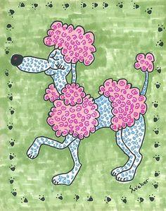 Prissy Pink Poodle