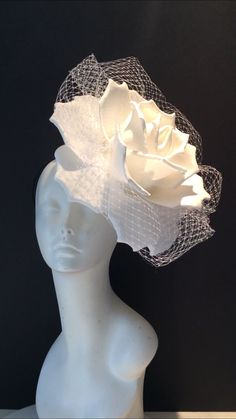 Excited to share this item from my shop: Large White Fascinators -- Diner en Blanc -Rose Headband- Flower Headband- US made- All White Party- Festival Wear- Bridal- Wedding White Fascinator, Fascinator Hats, Fascinators, Rose Headband, Floral Headbands, Baby Headbands, Bandeau Rose, All White Party, Foam Roses