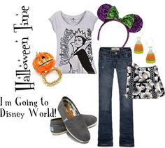 """""""Halloween: I'm Going To Disney World"""" by disneydiva305 ❤ liked on Polyvore"""