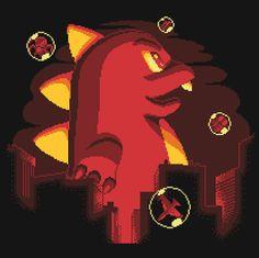 #Toho: #Godzilla / Bubble Bobble: #Pixel art mashup t-shirt.
