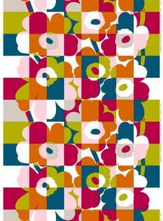 Ruutu-Unikko HW cotton fabric