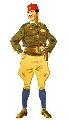 Regulares. Sargento en uniforme de campaña Uniform Dress, Military Uniforms, Human Emotions, Colonial, Ronald Mcdonald, Battle, Spanish, History, Pictures