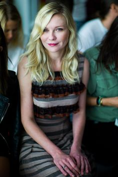 Kirsten Dunst front row at Rodarte at New York Fashion Week.