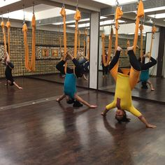 """Retrofit Healthcare's Kids Yoga Batch in full swing! Watch how these young children are having the time of their life, swaying and arching to the moves of #yoga. While their physical and mental health is being nourished, so is their """"fun"""" quotient. For us, this is inspiring! So decide NOW! Join #Antigravity Yoga with us.  Special Kids batches 