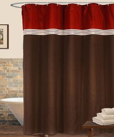 1000 images about bathroom decor on pinterest shower for Red and brown bathroom sets