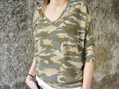 Long Sleeve Camouflage T-Shirt Camouflage T Shirts, Smart Styles, Dress First, Urban Fashion, Street Style, Long Sleeve, Sleeves, Dresses, Women