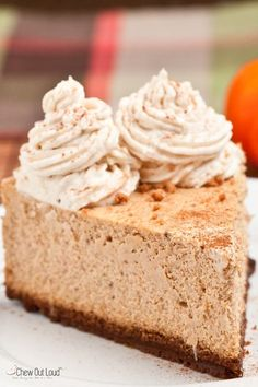 Pumpkin cheesecake is dense, rich, and smooth. Pumpkin and cheesecake fans' dream come true. Awesome crust. Move over, Cheesecake Factory!