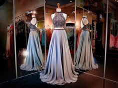 Fashion Two Pieces Long Prom Dress, Floor Length Party Dresses,Evening Dress  - Thumbnail 1