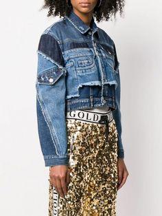 Shop online Dolce & Gabbana cropped patchwork denim jacket today with fast global shipping and free returns. Denim Top, Fashion Wear, Denim Fashion, Designer Denim Jacket, Denim Vintage, Estilo Jeans, Denim Ideas, Dolce E Gabbana, Denim Outfit