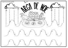 """Recién terminadas y confeccionadas... Fichas y manualidad para trabajar en clase la historia del """"ARCA DE NOÉ""""   Empezamos con unas fichas ..."""