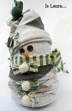 Adorable DIY snowman