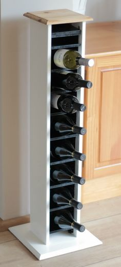 Once dry, the now reinvented wine rack was moved into the kitchen