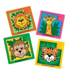 Zoo Animal Slide Puzzles These terrific plastic puzzles make wonderful game gifts or favors at a zoo, safari or jungle themed party. Give these fun colourful puzzles away as prizes! cm Terrific value & fun! Price is per puzzles; Jungle Party, Safari Party, Jungle Safari, Party Kit, Party Shop, Zoo Animal Party, Zoo Toys, Party Bag Toys, Childrens Party
