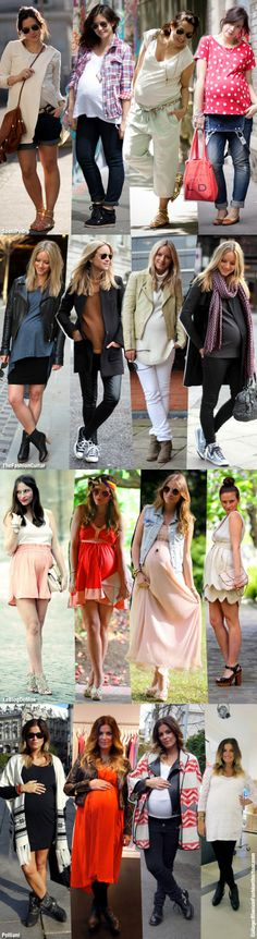 maternity street style collage