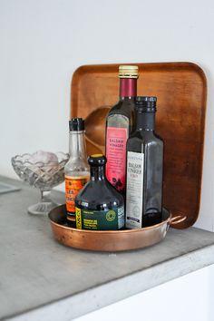 the copper tray