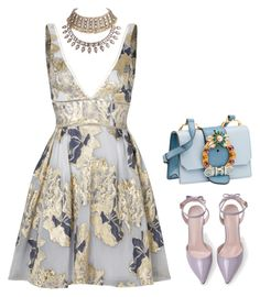 """Sem título #2193"" by lindsay-woods on Polyvore featuring moda, Notte by Marchesa, WithChic e Miu Miu"