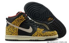 new style 421c9 a6cfe Womens Nike Dunk High Skinny Leopard Black Sandtrap Dark Gold Leaf Sunburst  Skateboarding Shoes Buy
