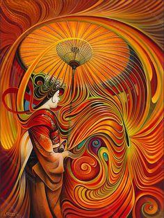Dynamic Oriental Print