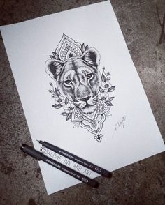 """265 Likes, 10 Comments - Salome Trujillo (@salome_ink_and_art) on Instagram: """"For tomorrow #lioness #liondesign #lionesstattoo #liontattoos #dotworklion #dotworkliontattoo…"""""""