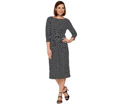 As comfortable as it is chic, this caviar crepe A-line dress from Dennis Basso flatters your figure in all the right places. Page 1 QVC.com