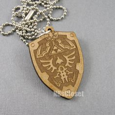 legend of zelda jewelry | Legend of Zelda Hyrule Shield Necklace by NBsCloset on Etsy