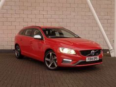 Used 2014 (14 reg) Red Volvo V60 D3 [136] R DESIGN 5dr Geartronic for sale on RAC Cars