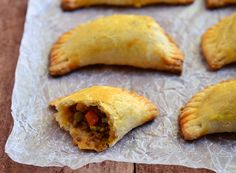 Veganize it:  Beef Empanada. Sub vegan beef crumbles and make easy by using pills bury crescent rolls instead of homemade dough - no need for egg wash.