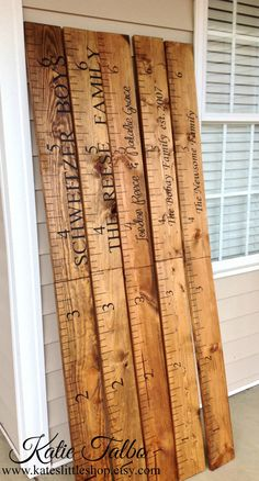 Giant Ruler. Family Growth Chart. Children's Growth Chart. Children's Measuring Chart. Rustic Home Decor. Wall Hanging. by Kateslittleshop on Etsy