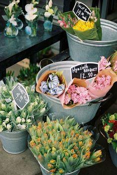 Spring Flowers for Sale Flowers For Sale, Bunch Of Flowers, Fresh Flowers, Spring Flowers, Flower Truck, Flower Cart, Farmers Market Display, Market Displays, Cut Flower Garden