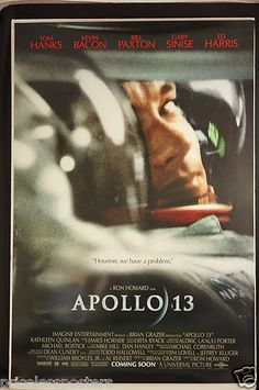 "1995 film - ""Apollo 13"" with Tom Hanks Original Movie Poster for sale - check the web site"