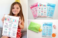 Take memorable birthday photos with these personalized dry erase birthday signs. Fun for everyone in the family!