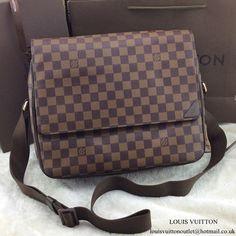 Louis Vuitton N41149 Shelton MM Messenger Bag Damier Ebene Canvas 648099b3ab479
