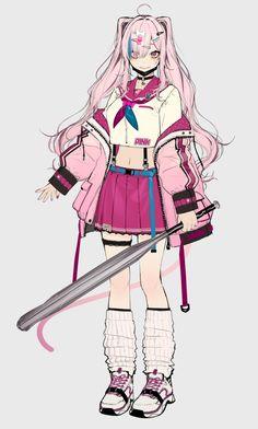 (19) かやはら (@kaya7hara) 的媒体推文 / Twitter Cool Anime Girl, Anime Art Girl, Cute Characters, Female Characters, Character Concept, Character Art, Desenhos League Of Legends, Cyberpunk Anime, Estilo Anime