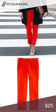 """J. Crew Café Capri In Wool 🌈 Size 2. """"Introducing our wildly flattering wool café capri—now your favorite perfect-fitting pant can be worn all year long. Crafted in lightweight wool and a collection of can't-miss colors, it's the one piece you'll need to anchor your wardrobe for fall (and beyond)."""" 🌈 J. Crew Pants Ankle & Cropped"""
