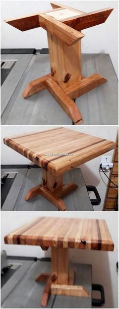 There are wide variety of the ideas that makes the whole table set of wood pallet perfect for your house beauty purposes. This is one amazing option to try out right now. Wooden Pallet Table, Wooden Pallets, Wooden Diy, Wood Table, Pallet Tables, Pallet Wood, Pallet Crafts, Diy Pallet Projects, Wood Projects