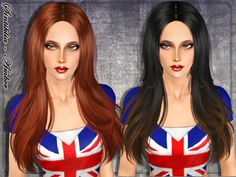 Amber hair for females by Sintiklia - Sims 3 Downloads CC Caboodle