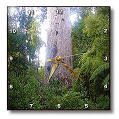 The Oldest Kauri Tree in New Zealand Tane Mahut2000 Years Ago Approximately During Life of Christ Wall Clock